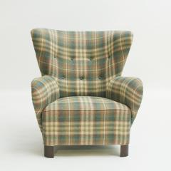Easy chair Danish reupholstered with Mulberry fabric - 938479