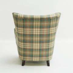 Easy chair Danish reupholstered with Mulberry fabric - 938481