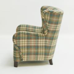 Easy chair Danish reupholstered with Mulberry fabric - 938482