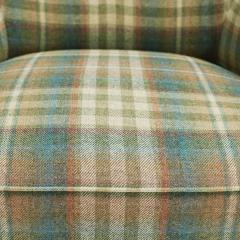 Easy chair Danish reupholstered with Mulberry fabric - 938487