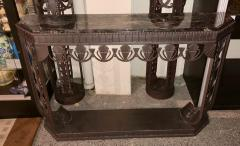 Edgar Brandt Art Deco Grand Iron and Marble Console style of Edgar Brandt - 1352525