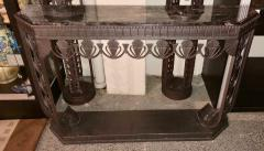 Edgar Brandt Art Deco Grand Iron and Marble Console style of Edgar Brandt - 1352539