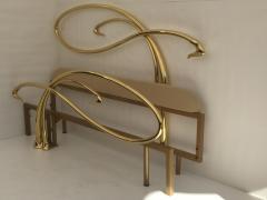 Edgar Brandt Art Nouveau Style Brass King Size Bed - 449972