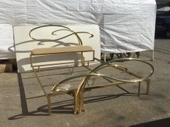 Edgar Brandt Art Nouveau Style Brass King Size Bed - 449973