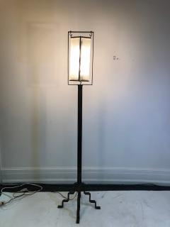 Edgar Brandt Exceptional Edgar Brandt French Art Deco Floor Lamp - 1031984