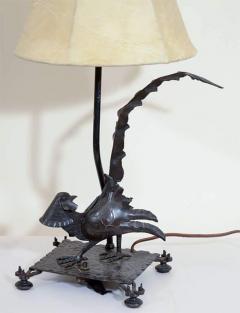 Edgar Brandt Exceptional Edgar Brandt Pair of Art Deco Pheasant Form Table Lamps - 447347