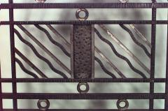 Edgar Brandt French Art Deco Wrought Iron Filigree Circle Design 4 Panel Gate - 470982