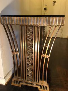 Edgar Brandt Incredible Modernist Bronze Art Deco Console Table by Edgar Brandt - 410080