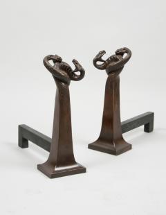 Edgar Brandt Pair of Andirons by Edgar Brandt 1880 1960 France ca 1925 - 122508