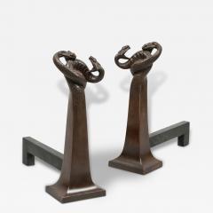 Edgar Brandt Pair of Andirons by Edgar Brandt 1880 1960 France ca 1925 - 130956