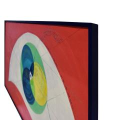 Edgar O Dale Edgar O Dale Graphic Painting on Canvas 1964 signed  - 1152296