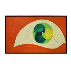 Edgar O Dale Edgar O Dale Graphic Painting on Canvas 1964 signed  - 1152297