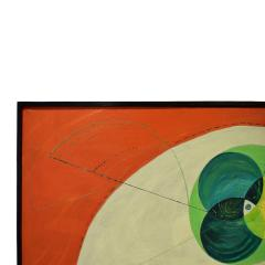 Edgar O Dale Edgar O Dale Graphic Painting on Canvas 1964 signed  - 1152298