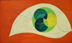 Edgar O Dale Edgar O Dale Graphic Painting on Canvas 1964 signed  - 1153392