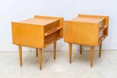 Edmond Spence Pair of American Modern Birch Bedside Cabinets Sir Edmond Spence - 373138