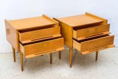 Edmond Spence Pair of American Modern Birch Bedside Cabinets Sir Edmond Spence - 373139