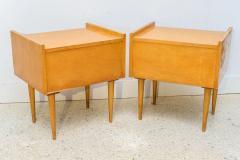 Edmond Spence Pair of American Modern Birch Bedside Cabinets Sir Edmond Spence - 373140