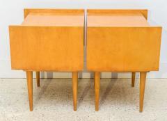 Edmond Spence Pair of American Modern Birch Bedside Cabinets Sir Edmond Spence - 373141