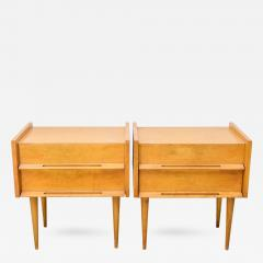 Edmond Spence Pair of American Modern Birch Bedside Cabinets Sir Edmond Spence - 376789
