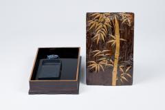 Edo Period Zitan Wood Suzuribako Writing Box  - 1631387