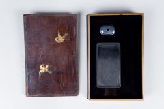 Edo Period Zitan Wood Suzuribako Writing Box  - 1631427