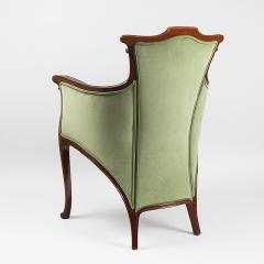 Edouard Colonna French Art Nouveau Wooden Armchair By Edouard Colonna    331188