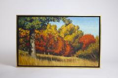 Edward Carpenter Bearden Ed Bearden Oil on Canvas Edge of the Woods in Fall 1974 Texas Artist - 1930659