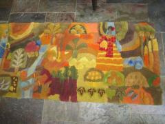 Edward Fields Amazing Huge Tapestry Depicting American History Mid Century Modern - 1862505