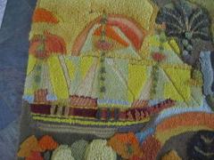 Edward Fields Amazing Huge Tapestry Depicting American History Mid Century Modern - 1862506