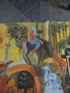 Edward Fields Amazing Huge Tapestry Depicting American History Mid Century Modern - 1862508