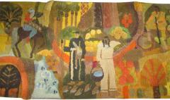 Edward Fields Amazing Huge Tapestry Depicting American History Mid Century Modern - 1864341