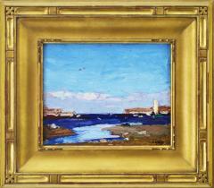 Edward Henry Potthast By the Shore inlet scene  - 643507