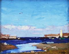 Edward Henry Potthast By the Shore inlet scene  - 643593