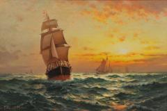 Edward Moran Fishing Boats - 513805