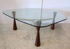 Edward Wormley An American Modern Brass Wood Glass Coffee Table Edward Wormley for Dunbar - 1265288
