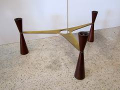 Edward Wormley An American Modern Brass Wood Glass Coffee Table Edward Wormley for Dunbar - 1265291