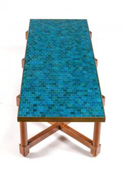 Edward Wormley Dunbar Murano Glass Tile Top Coffee Table by Edward Wormley USA 1950s - 876517
