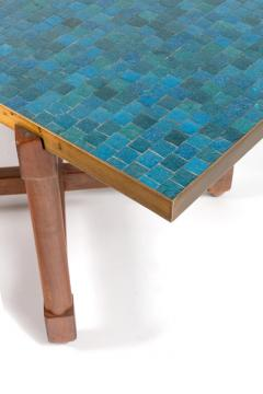 Edward Wormley Dunbar Murano Glass Tile Top Coffee Table by Edward Wormley USA 1950s - 876518