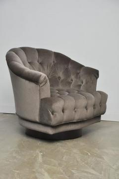 Edward Wormley Dunbar Tufted Swivel Lounge Chairs Edward Wormley   453547