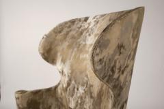 Edward Wormley Dunbar Wingback Chairs designed by Edward Wormley in a Custom Cartier Textile - 1132987