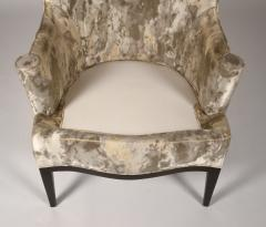 Edward Wormley Dunbar Wingback Chairs designed by Edward Wormley in a Custom Cartier Textile - 1132989