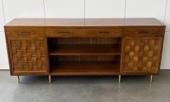 Edward Wormley Dunbar Woven Front Sideboard Cabinet by Edward Wormley - 1360135