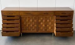 Edward Wormley Dunbar Woven Front Sideboard Cabinet by Edward Wormley - 1360142