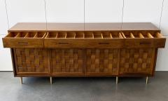 Edward Wormley Dunbar Woven Front Sideboard Cabinet by Edward Wormley - 1360143