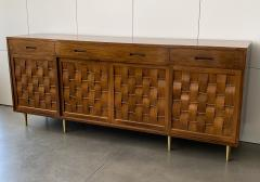 Edward Wormley Dunbar Woven Front Sideboard Cabinet by Edward Wormley - 1360155