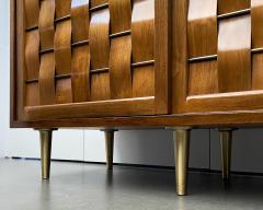Edward Wormley Dunbar Woven Front Sideboard Cabinet by Edward Wormley - 1360165