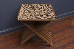 Edward Wormley Dunbar X Base Murano Tile Top Table - 351887