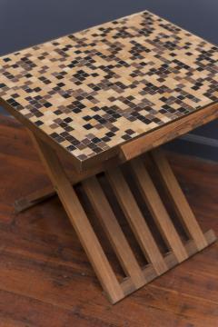 Edward Wormley Dunbar X Base Murano Tile Top Table - 351888