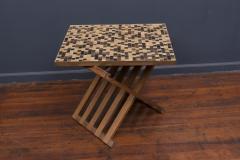 Edward Wormley Dunbar X Base Murano Tile Top Table - 351893