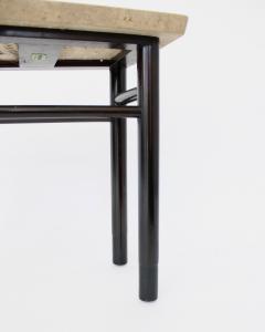 Edward Wormley EDWARD WORMLEY TRAPEZOID SIDE TABLE WITH ASAVAN CARRARA MARBLE TOP FOR DUNBAR - 1984569